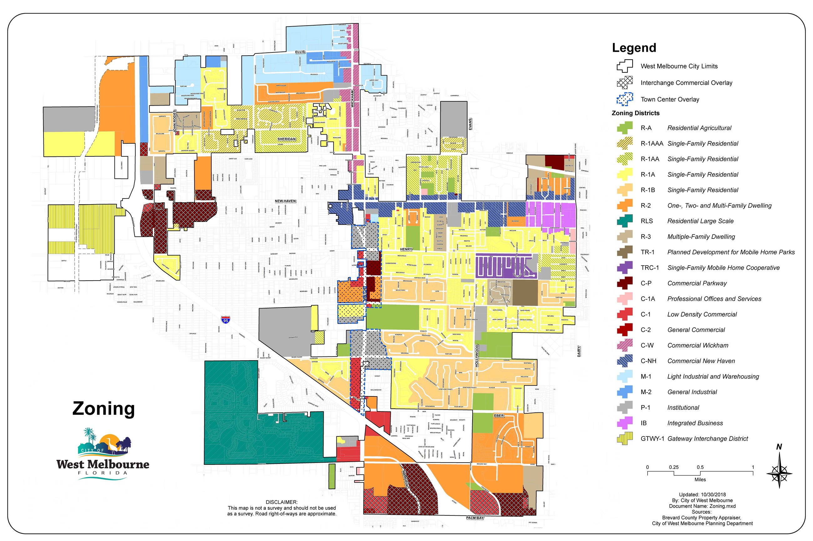 City Maps | West Melbourne, FL - Official Website Zoning Maps on