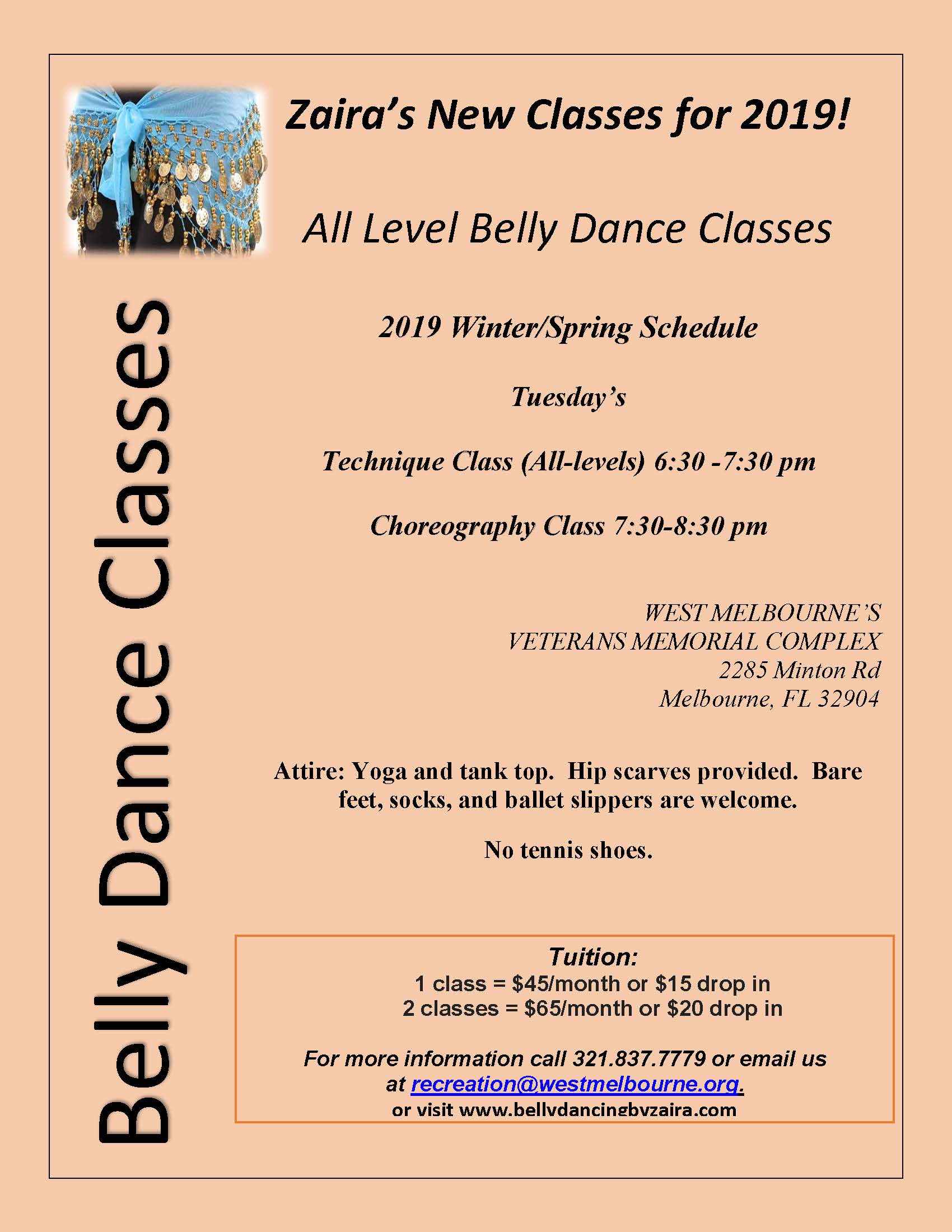 Belly Dance Classes with Zaira 2 6 19