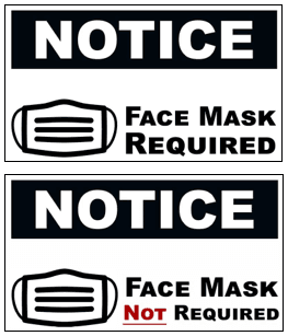 Mask Policy Sign Example